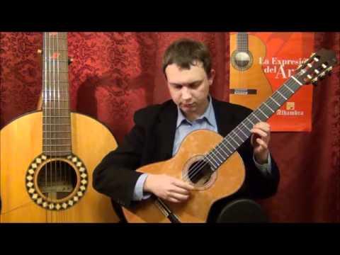 Видео обзор классической гитары Alhambra 7P. Guitar Alhambra 7P review.