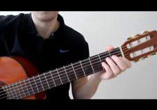 Видео урок на гитаре The Beatles Blackbird, видео разбор песни, как играть