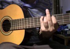 игра на басовых струнах 3 упражнение