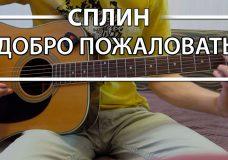 Как играть 'Добро пожаловать' — Сплин (Разбор для гитары, Аккорды, видеоурок Сплин)