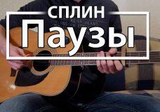 Как играть 'Паузы' — Сплин (Разбор для гитары, Аккорды, Табы, видеоурок Сплин)