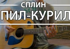 Как играть 'Пил-Курил' — Сплин (Разбор для гитары, аккорды, бой, видеоурок Сплин)