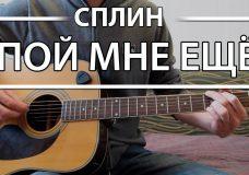Как играть 'Пой мне еще' — Сплин (Разбор для гитары, Аккорды, Табы, видеоурок СПЛИН)
