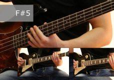 Как играть на бас гитаре Проклятый старый дом — Король и шут ( видеоурок Guitar riffs) табы