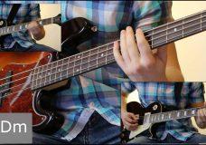 Как играть на бас гитаре Сказочная тайга — Агата Кристи ( видеоурок Guitar riffs) табы