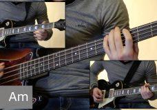 Как играть на бас гитаре Утопленник — Король и шут ( видеоурок Guitar riffs) табы