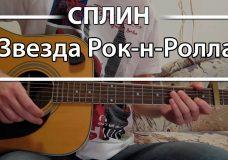 Как играть Сплин — 'Звезда Рок-н-Ролла'. Урок и аккорды на гитаре для начинающих Сплин