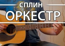 Как играть Сплин — Оркестр. Урок и аккорды на гитаре для начинающих, видеоурок Сплин аккорды