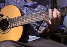 обалденные мелодии на двух струнах, игра на басовых струнах