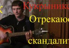 ОТРЕКАЮСЬ СКАНДАЛИТЬ — (Горшенёв — Есенин) Кукрыниксы (БойПРАВИЛЬНЫЕ аккорды) КАВЕР