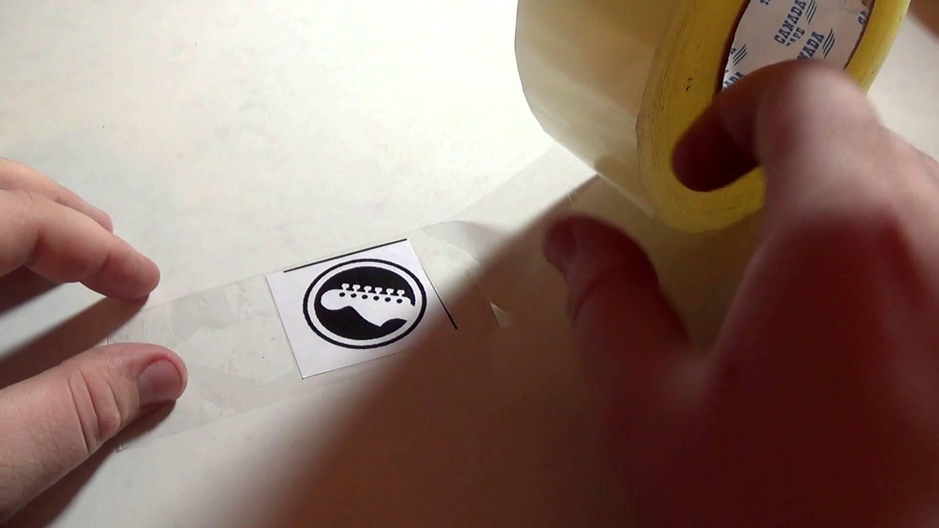 Полезно знать (Как сделать наклейку для гитары)