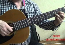 skillet american noise GUITAR LESSON разбор на гитаре