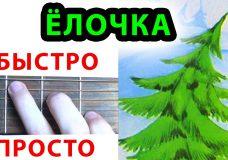 В лесу родилась елочка АККОРДЫ. ЛОЧКА НА ГИТАРЕ. Новогодняя песня