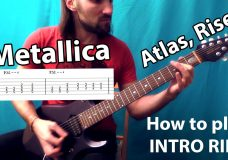 HOW TO PLAY Metallica — Atlas, Rise (Full intro riff tab & backing track). Качевый риFAQ 31