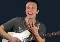 Как играть арпеджио на электрогитаре. Мажорное арпеджио на гитаре.