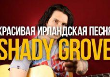 Как играть красивую ирландскую мелодию на гитаре (Shady Grove) — Уроки игры на гитаре Первый Лад