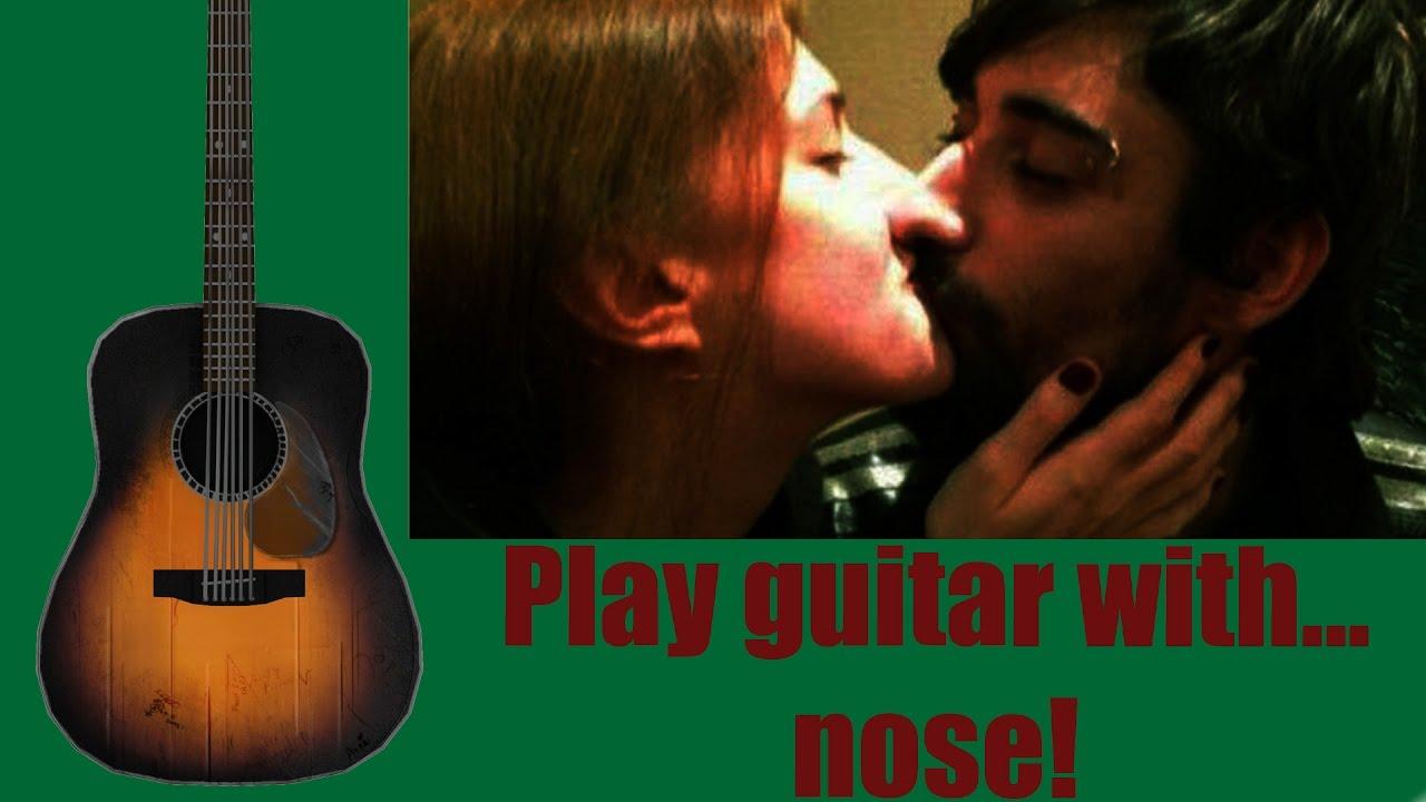 Как играть на гитаре носом (Урок на гитаре)