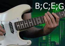 Как придумать соло. Простое соло на электрогитаре. Уроки игры на гитаре.