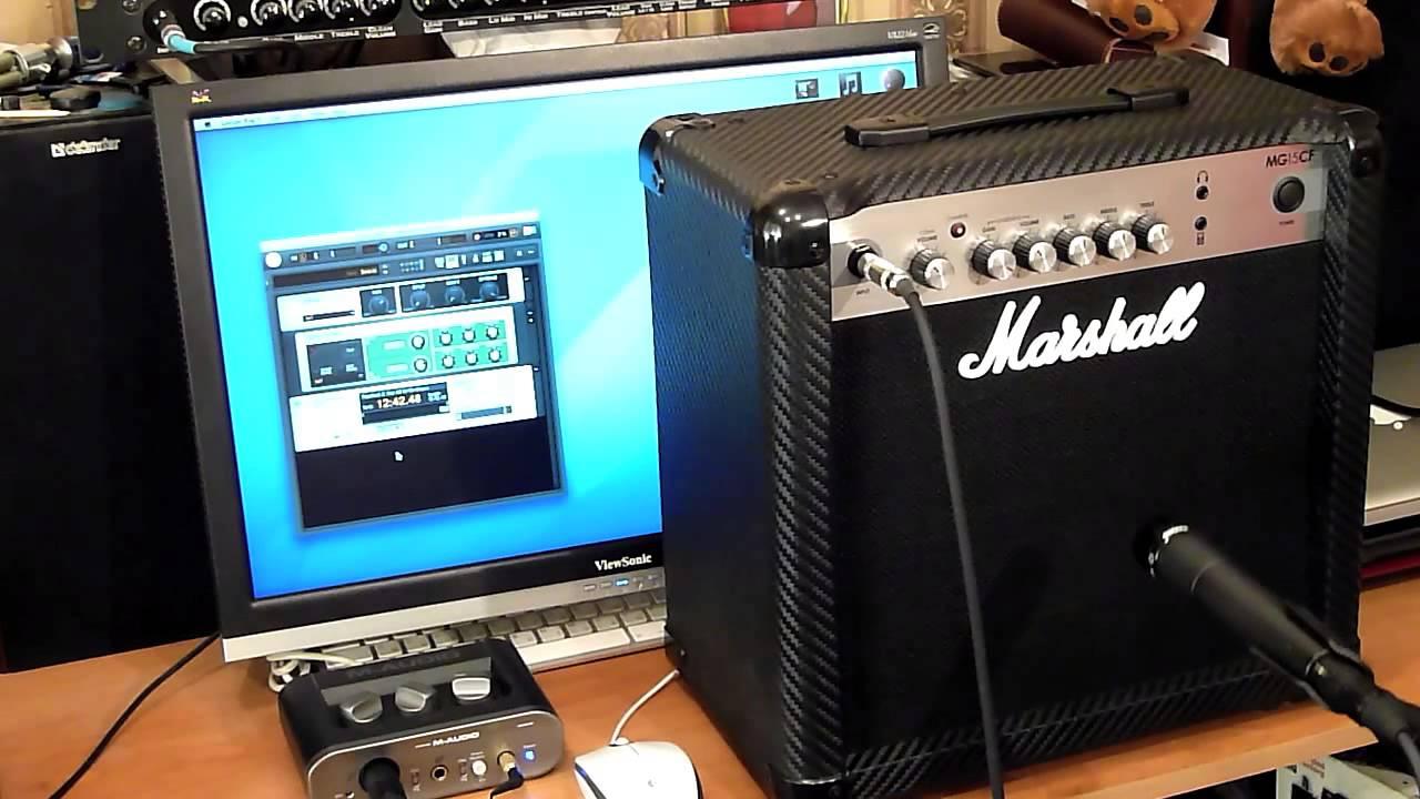 Как записать звук комбика Marshall MG15CF
