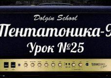 Пентатоника (9) Уроки игры на электрогитаре 25 Dolgin School