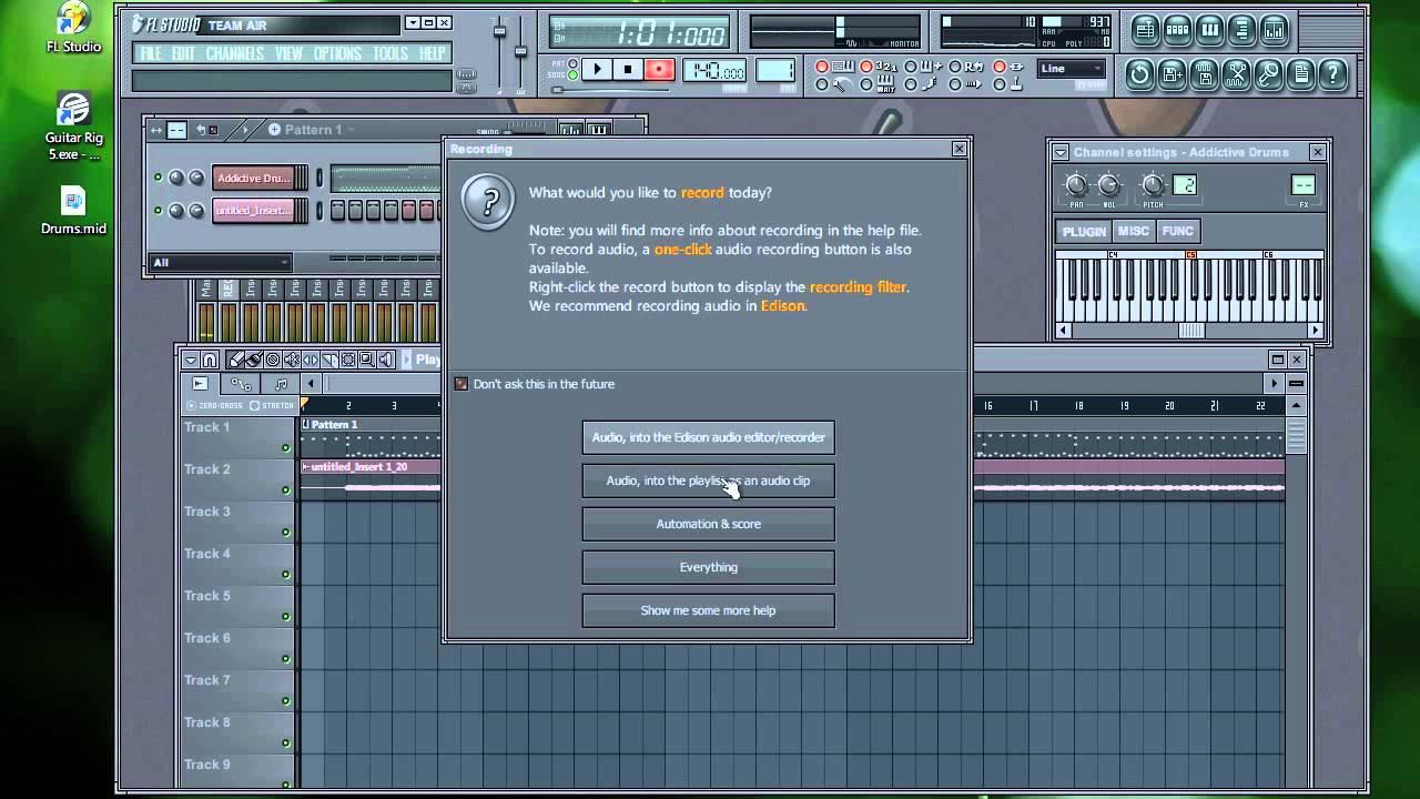 Записываем простой трек в программе FL-Studio