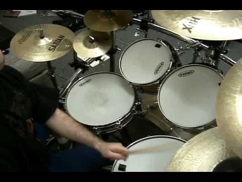 INTO ETERNITY - Steve Bolognese Drum Video (FUNERAL HYMN...)