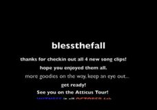 blessthefall — Song Clip 4 'You Deserve Nothing And I Hope You Get Less'