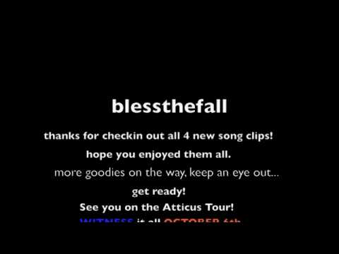 blessthefall - Song Clip 4 'You Deserve Nothing And I Hope You Get Less'