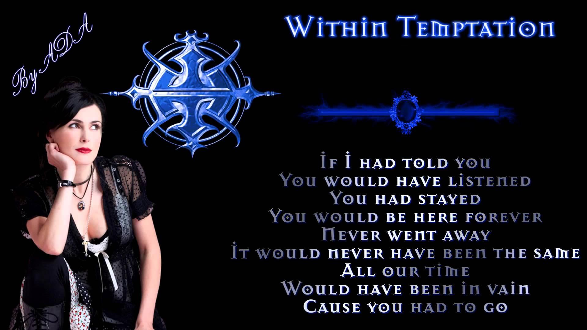 Within Temptation - Bittersweet Lyrics (HD 1080p)