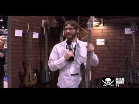 The Red Chord's Greg Weeks shows off his Traben custom bass