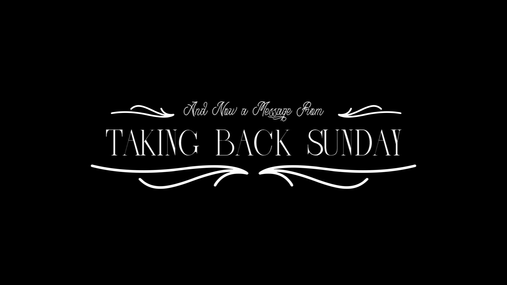 A Special Message From Taking Back Sunday For Tobin