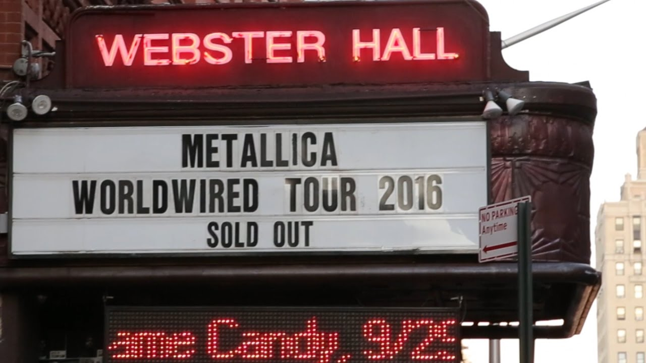 Metallica Webster Hall 2016 Recap (For Whom the Bell Tolls - Live)