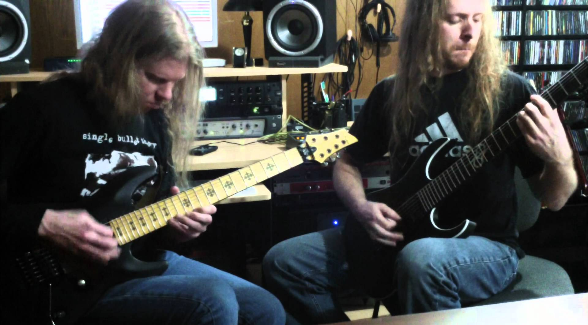 Jeff Loomis and Joe Nurre play 'Shouting Fire at a Funeral'