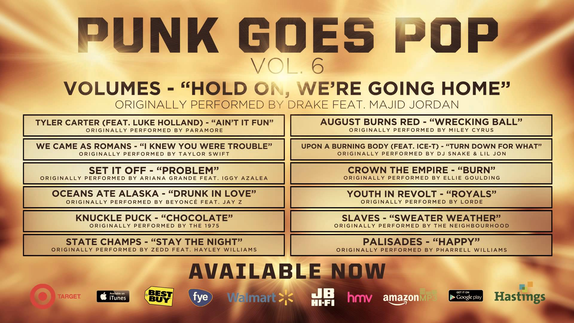 Punk Goes Pop Vol. 6 - Volumes 'Hold On, We're Going Home'
