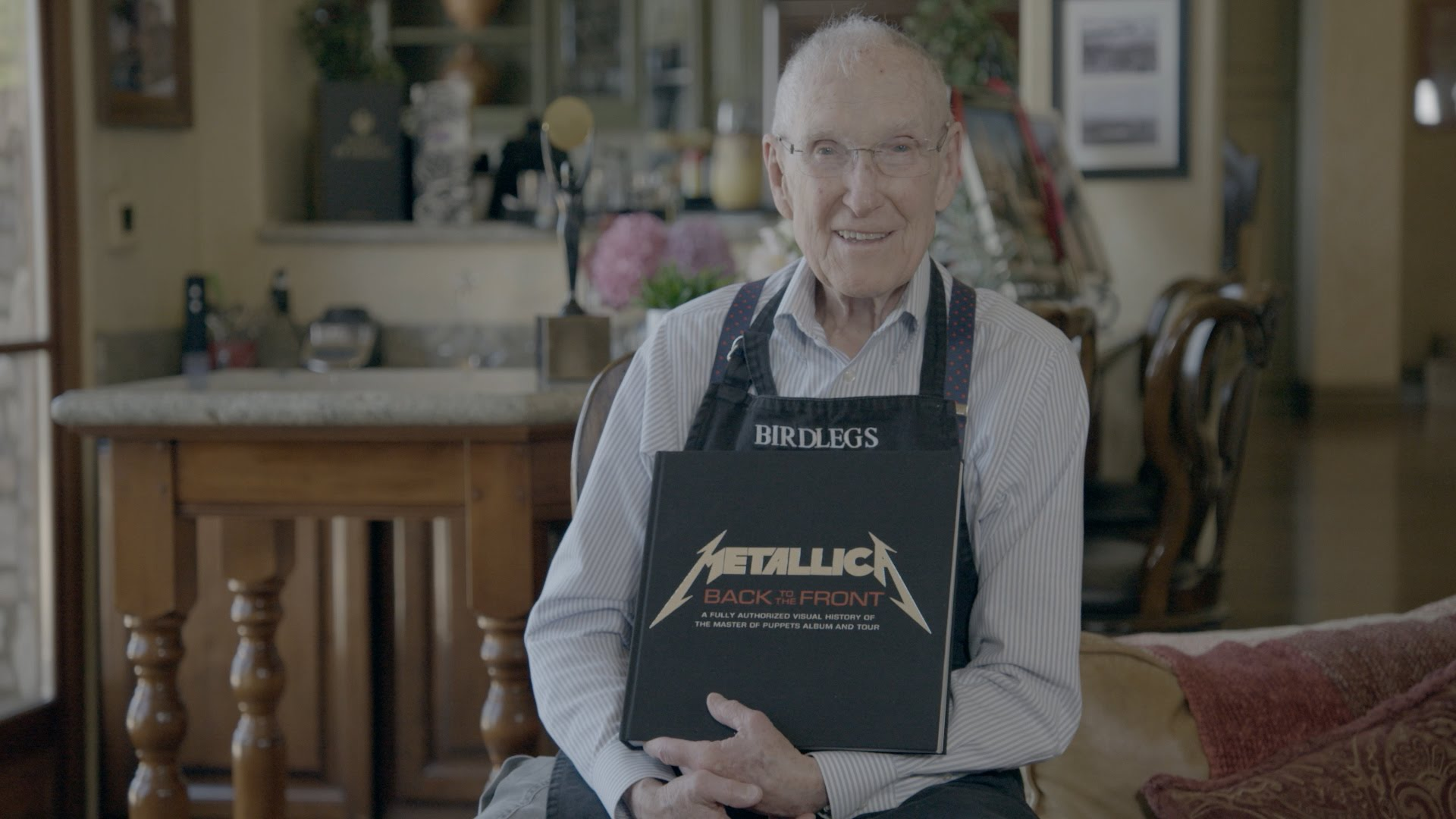 Ray Burton Receives His Copy of 'Metallica Back to the Front'