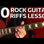 10 Rock Riffs - Guitar Lesson - Beginners