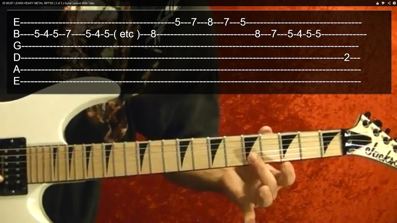 20 AMAZING HEAVY METAL RIFFS ( 3 of 3 ) Guitar Lesson