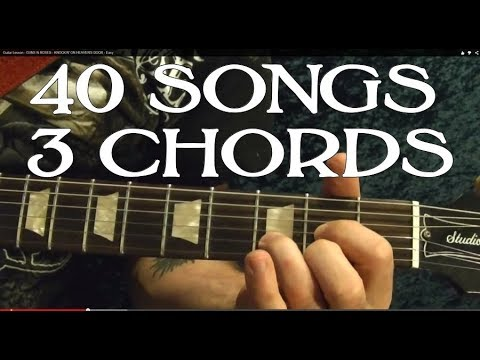 40 Rock Songs, 3 Chords Guitar Lesson Beginners
