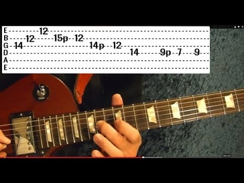 8 EASY Rock Riffs ( Guitar Lesson ) - Beginners