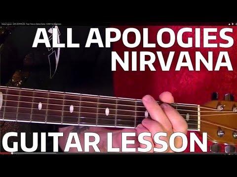 All Apologies NIRVANA Guitar Lesson - EASY