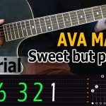 Ava Max - Sweet But Psycho Easy Guitar Tutorial