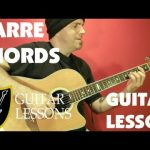 BARRE CHORDS — Guitar Lesson — Beginner
