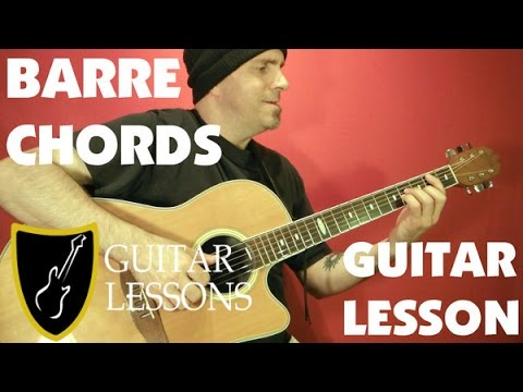 BARRE CHORDS - Guitar Lesson - Beginner