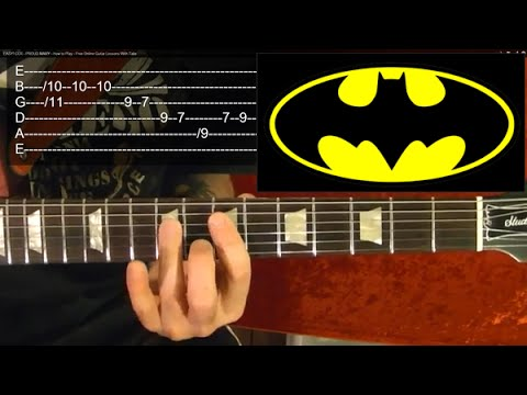 BATMAN ( TV Show Theme ) Guitar Lesson - Beginners