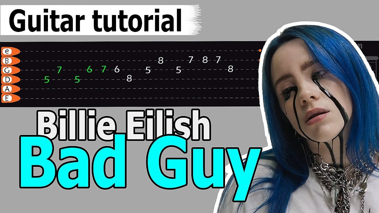 Billie Eilish - Bad Guy Easy Guitar Tutorial, Chords, How to Play, Guitar Lesson