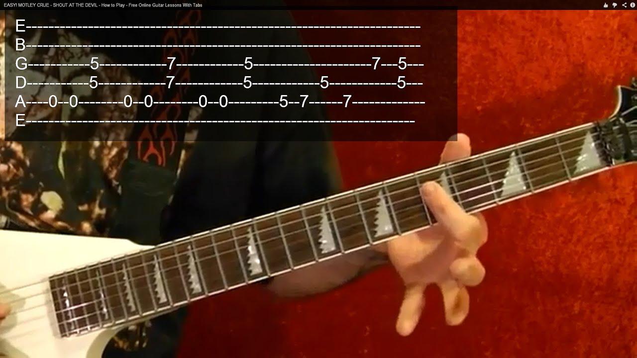 BLACK SABBATH - ELECTRIC FUNERAL - Guitar Lesson - Easy