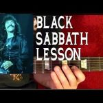 Black Sabbath BLACK SABBATH Guitar Lesson