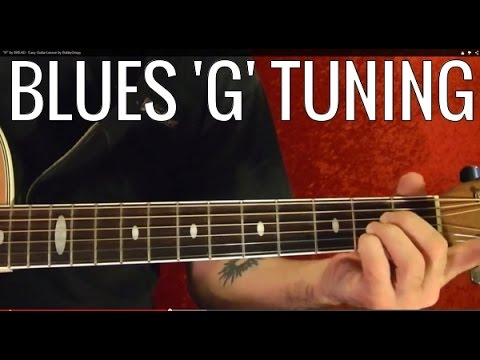 Blues 'G' Tuning - Guitar Lesson ( Blues Scale and Chrords )