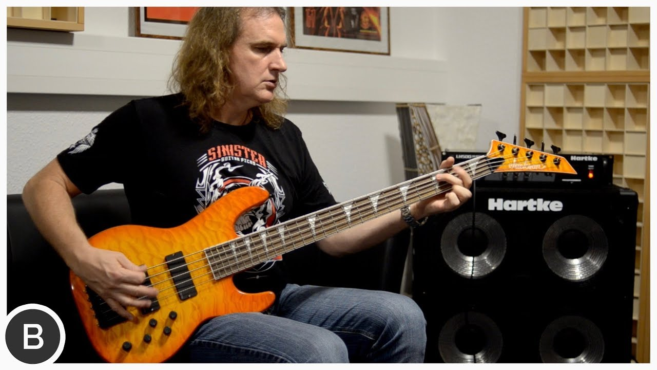 DAVID ELLEFSON - METAL BASS RIFF