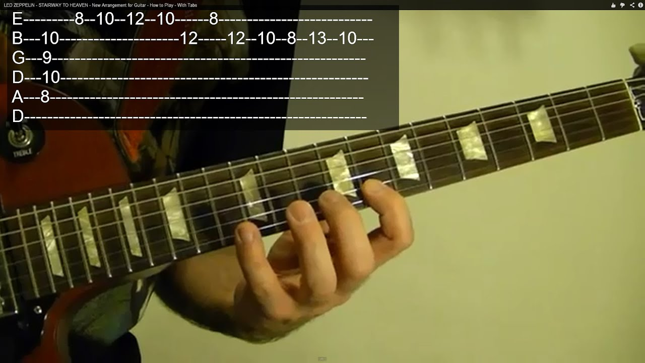 EASY LED ZEPPELIN Solo For Beginners; TANGERINE ( With Tabs )